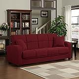 Metro Shop Portfolio Turco Convert-a-Couch® Crimson Red Microfiber Futon Sofa Sleeper