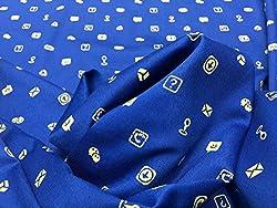 GANGHS Men's Designer Printed Cotton Shirt Fabric