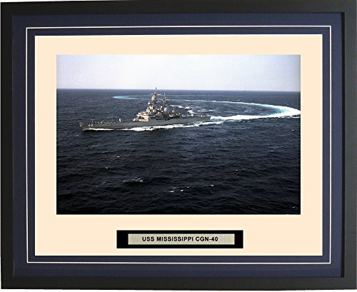 Navy Emporium - USS Mississippi CGN-40 - Framed - Photo - Engraved Ship Name - Double Mat - Photograph - 16 X 20 - 156CGN40 торшер leds c4 emporium 25 1858 i1 55