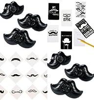 60 Pc Mustache Party Favors Set of (1…