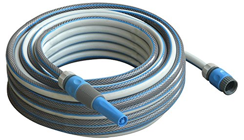 100 ft Garden Water Hose Set with Nozzle Sprayer and Tap, Hose and Stop Connectors - Best Heavy Duty Braided Watering Hoses for Watering Lawn, Yard/Garden, Car Wash, Washing Pets, Home Cleaning (5 8 Inch Spigot compare prices)
