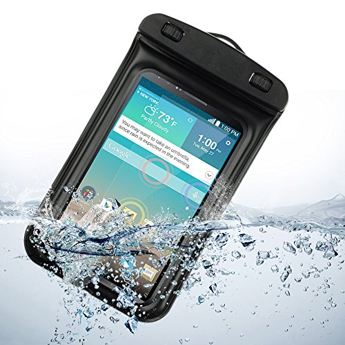 Universal Waterproof Case Carrying Bag For Lg G3 Lg-F400 32Gb / Lg G2 (Verizon Wireless, At&T , Sprint) (Black)