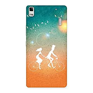 Special Cycle Couple Dream Multicolor Back Case Cover for Lenovo A7000