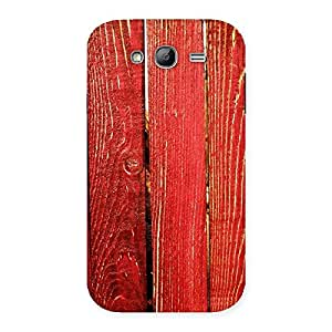 Red Texture Wood Back Case Cover for Galaxy Grand Neo