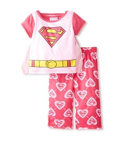 Kid's Superwoman 2-Piece Pajama Set with Cape  [Assorted]