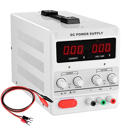 30v 10a 110v Precision Variable Dc Power Supply Digital Adjustable Regulated Lab Grade Safe Circuit Design W Clip Cable (Dc Variable Power Supply compare prices)