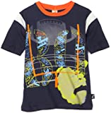 Charlie Rocket Boys 2-7 Football Colorblock Tee