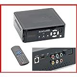 Disque Dur Externe Multimedia 500Go - Full HD 1080p - sortie HDMI, RGB, optique ou RCA - Compatible Windows 7 / Vista / XP - télécommande - connexion PC par USB - câbles USB, RGB et RCA inclus, adaptateur RCA vers péritel inclu