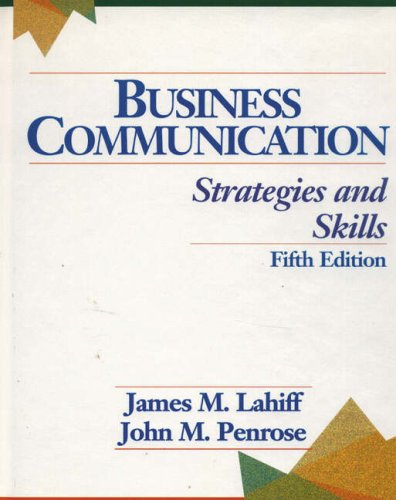Business Communication: Strategies and Skills
