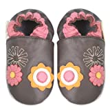 Momo Baby Soft Sole Baby Shoes - Floral Brown 12-18 Months