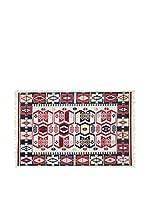 Tapis a Porter Alfombra Doubleface Osman Rojo/Marfil/Multicolor 100 x 300 cm
