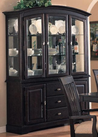 buy low price coaster southwestern dirty oak finish wood black china cabinet hutch buffet Contemporary Cabinet Hutch