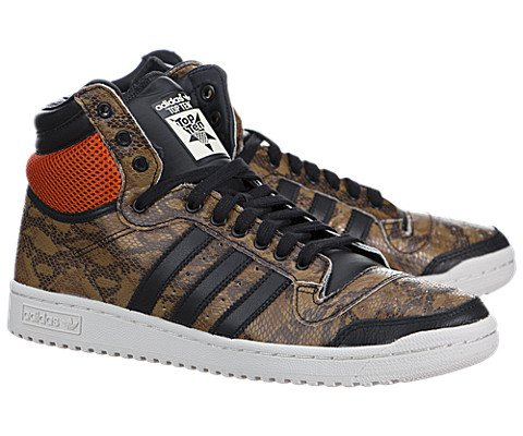 Adidas Top Ten High – Black / Brown-White, 10 D US