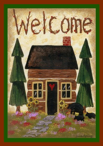 Toland Home Garden 109582 Cabin Welcome House