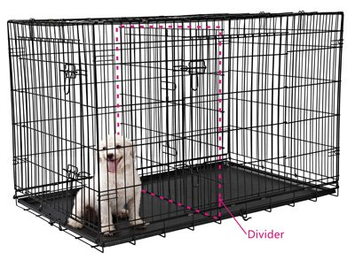 Good If You Put A Very Young Labrador Puppy In An Adult Sized Crate, He Will  Probably Make A Nest At One End, And Use The Other End As A Toilet.