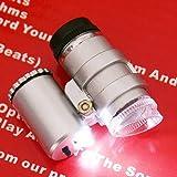 Kingzer 10pcs Portable Mini 45x LED Light Pocket Microscope Magnifier Loupe HandHeld