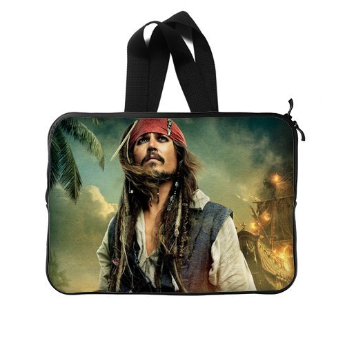 JIUDUIDODO Custom Johnny Depp Nylon Waterproof Laptop Sleeve 15 Inch Laptop Briefcases Handbags (Twin Sides)