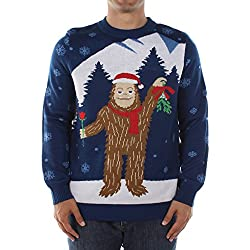Men's Romantic Sasquatch Ugly Christmas Sweater by Tipsy Elves