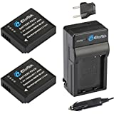 EforTek DMW-BLH7 Replacement Battery (2-Pack) and Charger Kit for Panasonic DMW-BLH7, DMW-BLH7E, DMW-BLH7PP and Panasonic Lumix DMC-GM1,DMC-GM1K,DMC-GM1KS,DMC-GM5