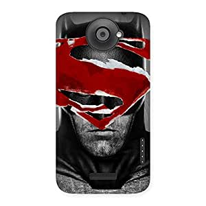 Gorgeous Black Red Forhead Back Case Cover for HTC One X