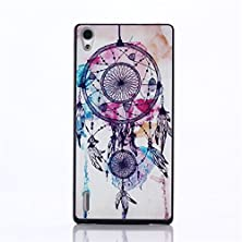 buy For Huawei Ascend P7 Case,[Gloryshop] Campanula Dreamcatcher Pattern, Pc Material Painted Snap-On Protective Shell Hard Case Cover For Huawei Ascend P7