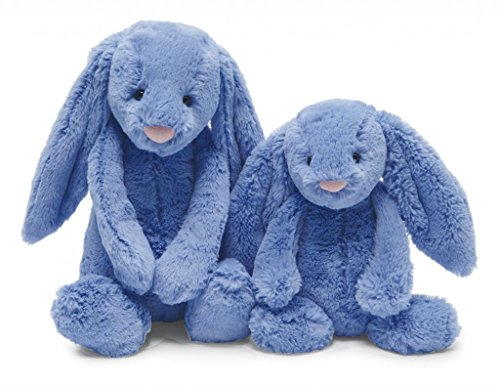 """Jellycat® Bashful Blue Bunny, Large - 15"""" front-613274"""