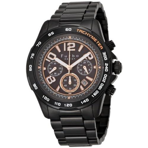 [フルボデザイン]Furbo design 腕時計 FS501BBK BKIP 黒文字盤 ソーラークロノ メンズ FS501BBK メンズ