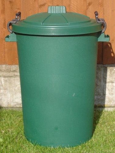 80/85 Litre Green Dustbin/Bin/Refuse Bin With Lockable Handles (made in the uk)