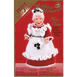 Crochet Pattern - Miniature Mrs Santa Claus Doll - PDF File