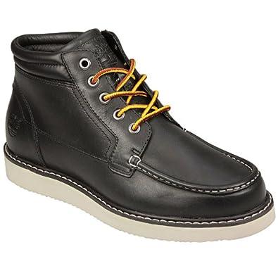 timberland mens wedge 5 eye chukka boot in black boots