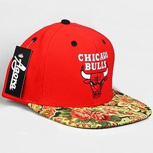 Chicago Bulls Custom Rose Paisley Snapback Hat