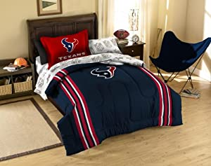 Houston Texans NFL Twin Comforter, Sheets and Sham (5 Piece Bed in a Bag) by NFL
