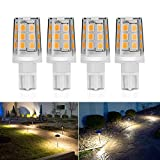 Kohree 2.5W LED Replacement Landscape Pathway Light Bulb 12V AC/DC Wedge Base T5 T10 for Malibu Paradise Moonrays and more (4 Pack, Warm White)