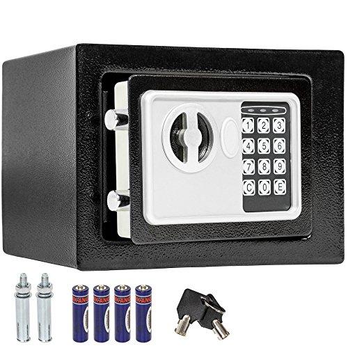 TecTake CASSAFORTE A MURO NUMERICA DIGITALE ELETTRONICA SICURO 17x23x17 cm + 4 x AA batterie