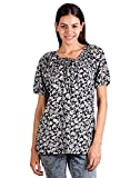 EBRY WOMEN PLEATED COTTON TOP (Large)