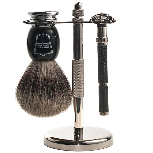 Parker Safety Razor Parker 96R Safety Razor Shave Set - Includes Pure Badger Brush Stand & Parker 96R Butterfly Open Safety Razor at Sears.com