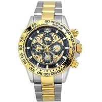 [ジョンハリソン]J.Harison 腕時計 自動巻き ブラック文字盤 JH-003GB メンズ