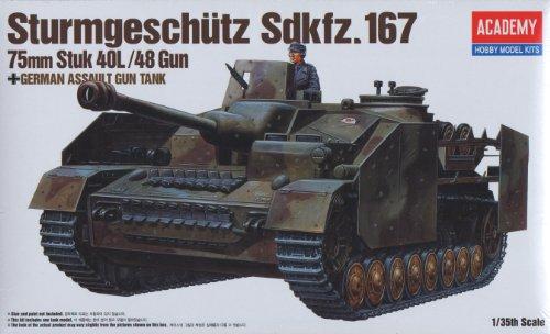 Aca13235 1:35 Academy Sturmgeschultz Sd.Kfz.167 75Mm Stuk 40L/48 Gun Model Kit
