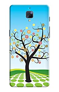 KanvasCases Back Cover for one plus 3 - circle tree