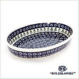 [Boleslawiec/ボレスワヴィエツ陶器]グラタン皿(オーバル)-914-ポーリッシュポタリー