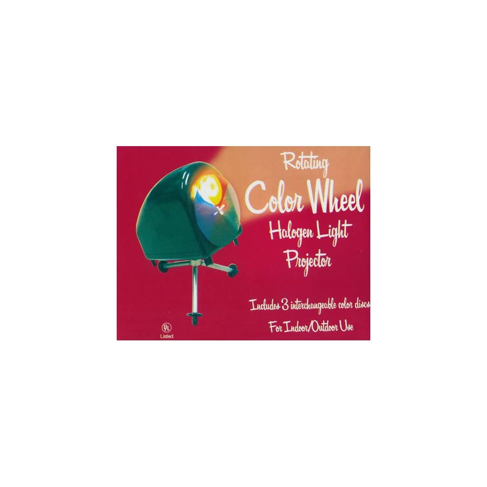 Retro Rotating Aluminum Christmas Tree Color Wheel Halogen Light On