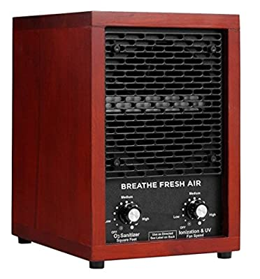 Breathe Fresh Air HEPA Filter Ionic Ionizer Air Purifier with UV Sterilizer and 2 Ceramic Ozone Plates