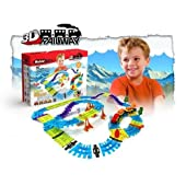 Modular Toys 3D Railway Set (62 Construction Pieces)