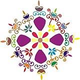 """DIY Rangoli Stencil for Diwali - Wooden (15 """" x 15"""")"""