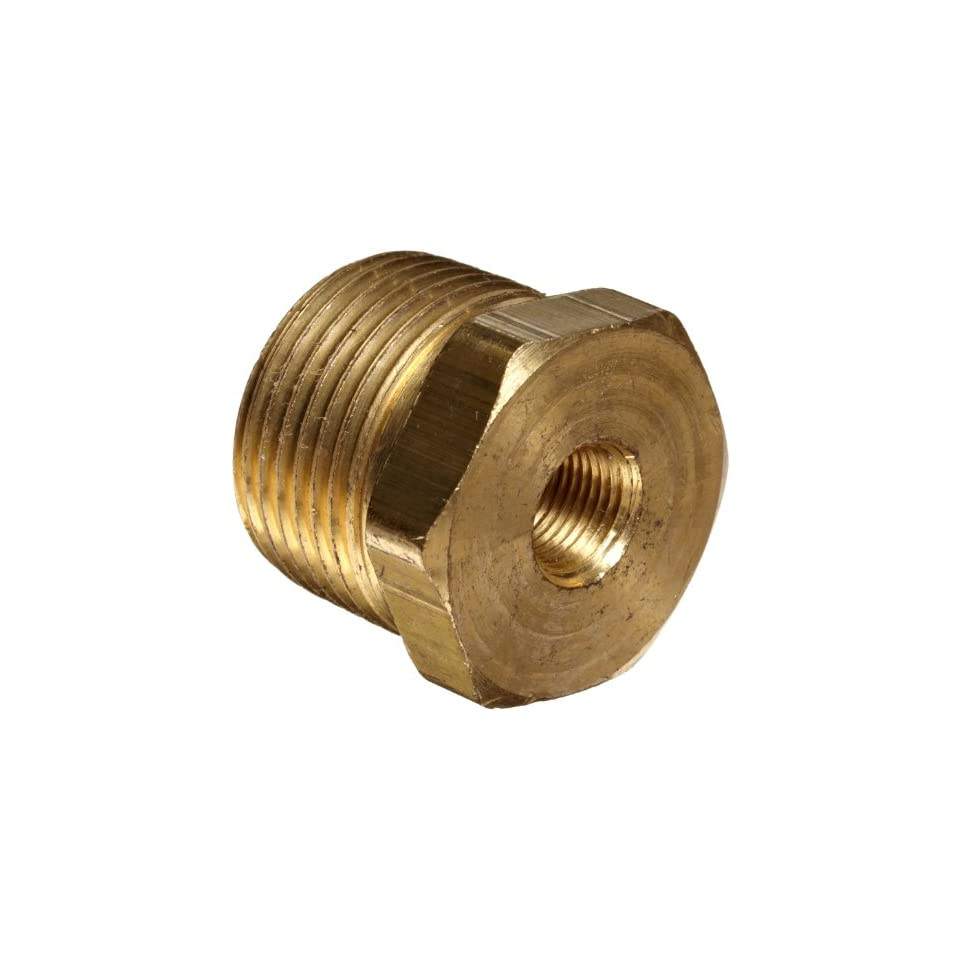 Anderson Metals Brass Pipe Fitting, Hex Bushing, 3/4 Male Pipe x 1/8 Female Pipe