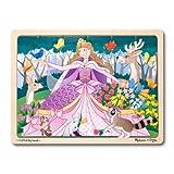 Melissa & Doug Woodland Fairy Princess Wooden Jigsaw Puzzle With Storage Tray (24 pcs)