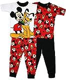 Mickey Mouse & Pluto Little Boys 4 Pc Cotton Pajama Set