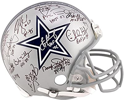 Dallas Cowboys Autographed Legends Riddell Pro Line Helmet with 22 Signatures - Limited Edition #2-38 of 39 - Fanatics Authentic Certified