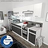 Einbauküche - FIWODO Set Junona Line 240 - mit Vollauszug!! - 4 Fronten wählbar )