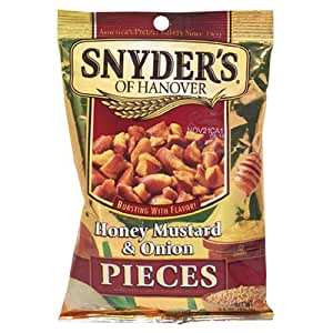 Snyder's of Hanover Honey Mustard & Onion Pretzel Pieces, 3.5-Ounce Packages (Pack of 48)